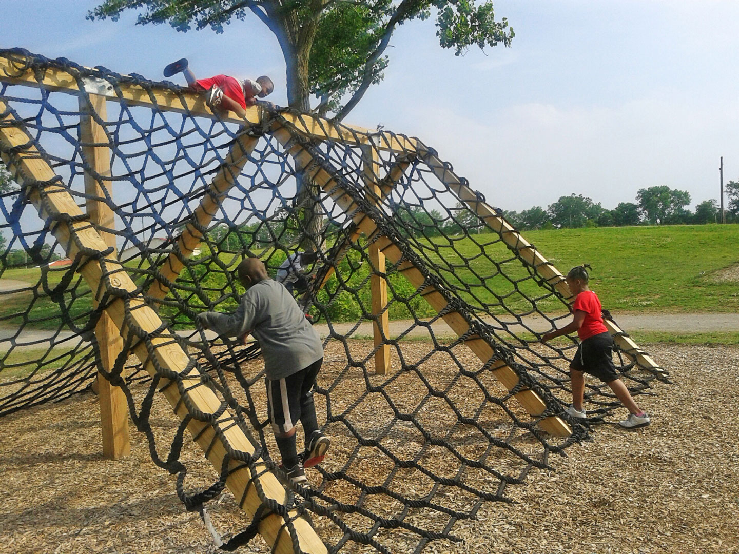 Cargo crawl at obstacle course.