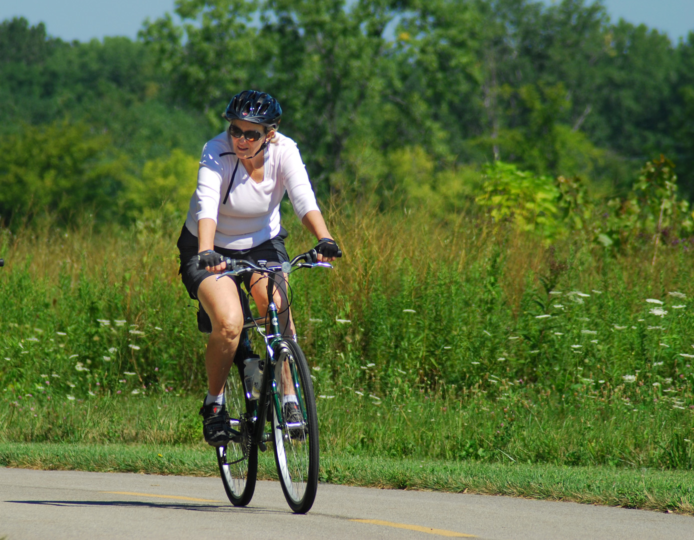 Biker on the Greenway Trail. Photo by Bill McCracken.