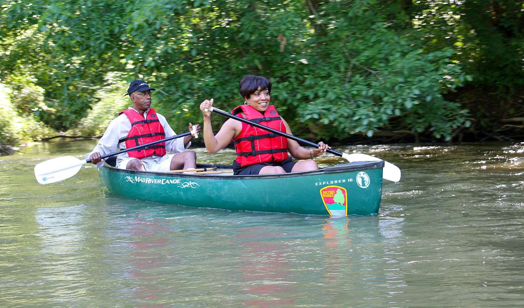 Canoeists on Big Darby Creek. Photo by Cheryl Blair.