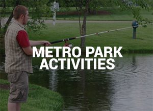 Man fishing at public park
