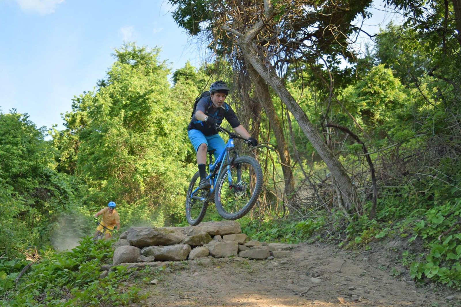 Riders on the Mountain Bike Trail at Chestnut Ridge during COMBO event.