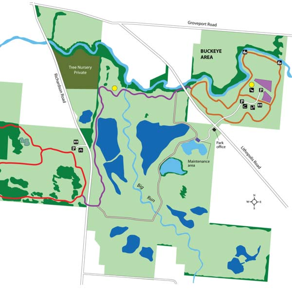 Walnut Woods Park Map