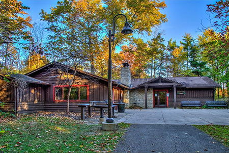 Beech Maple Lodge at Blacklick Woods.