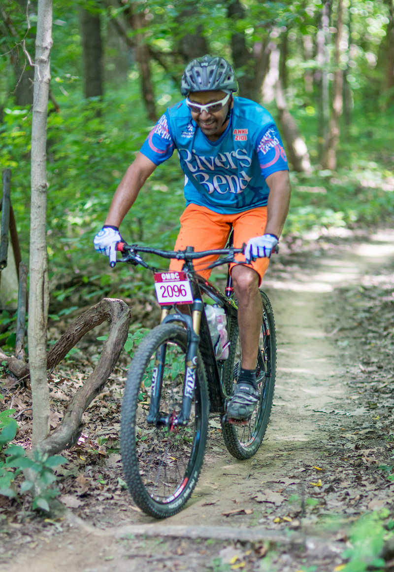 Competitor on the Mountain Bike Trail at Chestnut Ridge during a COMBO event