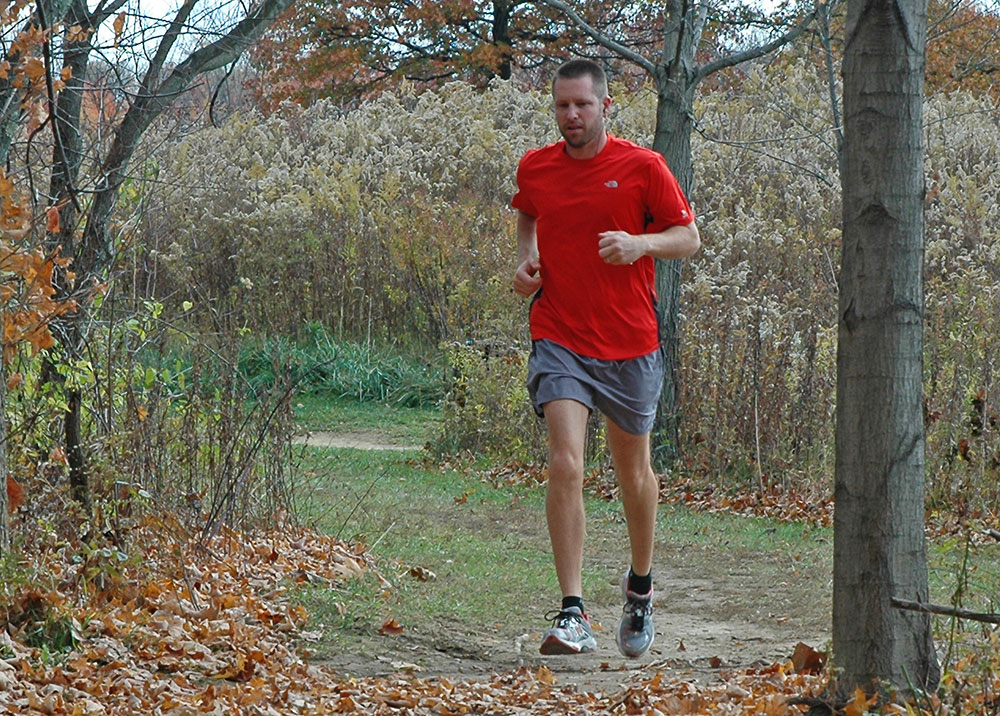 Highbanks Metro Park Jogger on Dripping Rock Trail
