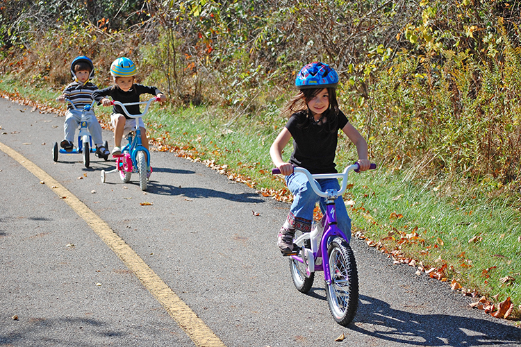 Kids on bikes at Sharon Woods Metro Park